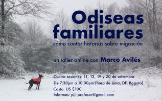 Odiseas Familiares – Taller Online –Setiembre