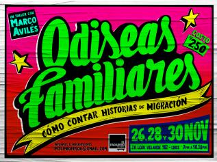 Odiseas Familiares – Lima – 26, 28, 30 deNoviembre