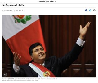 Perú contra elolvido