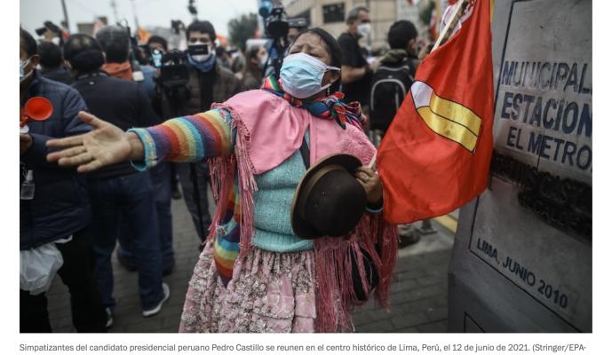 Pedro Castillo podría vencer a la derecha peruana pero no a suracismo